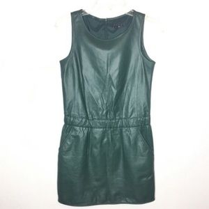 This Theory Lambs Leather Dress Sz 0